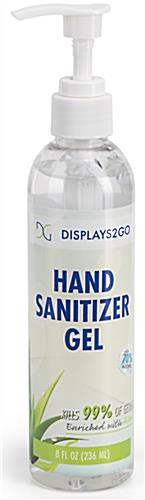 Hand sanitizer gel with convenient pump top