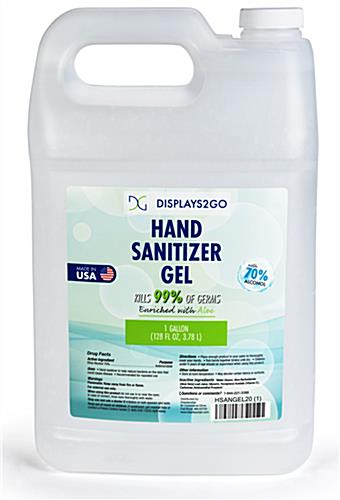 Gallon hand sanitizer refill gel is made in the USA
