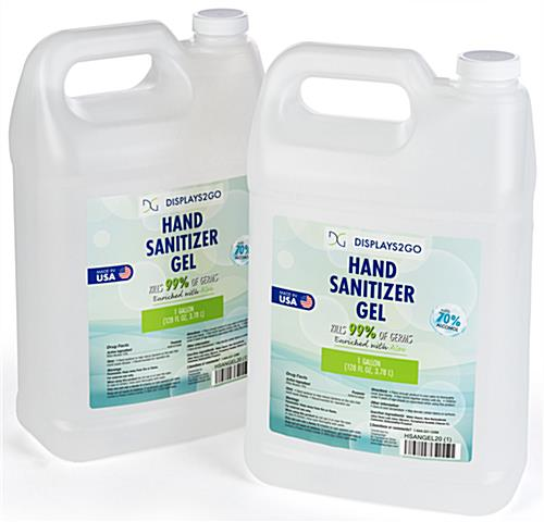 Gallon hand sanitizer refill kills 99 percent of common germs