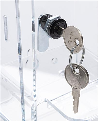 Locking acrylic hand sanitizer holder with front loading door
