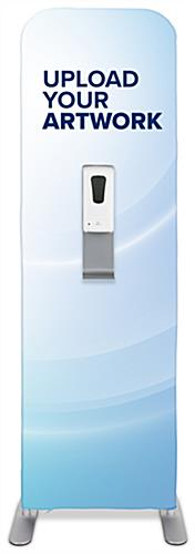 Branded hygiene station graphics for HSBDTDSG1 with inserts to apply one hand sanitizer dispenser