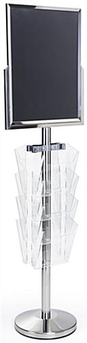 24 x 18 Floor Standing Sign with Magazine Holder , High Impact Acrylilc Pockets