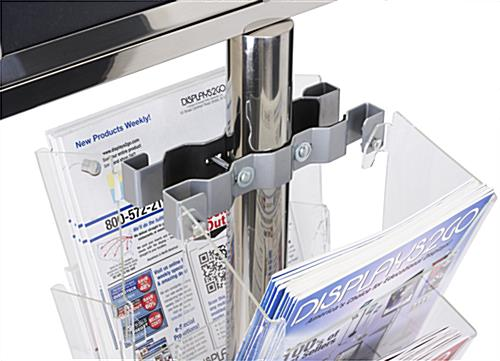 24 x 18 Floor Standing Sign with Magazine Holder, Silver Bracket