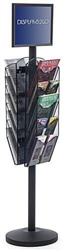"17"" x 11"" Sign Post with 10 Mesh Literature Pockets, Floorstanding"