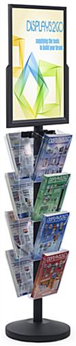 18 x 24 Sign Post with 8 Clear Literature Pockets, Floorstanding