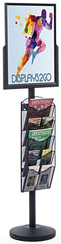 "18"" x 24"" Sign Post with 5 Mesh Literature Pockets, Floorstanding"