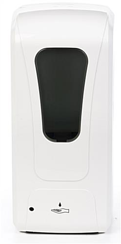 Touch free hand sanitizer dispenser is battery operated