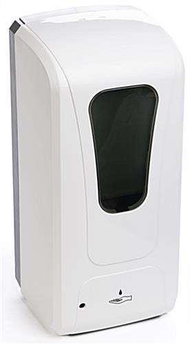Touch free hand sanitizer dispenser with white ABS housing