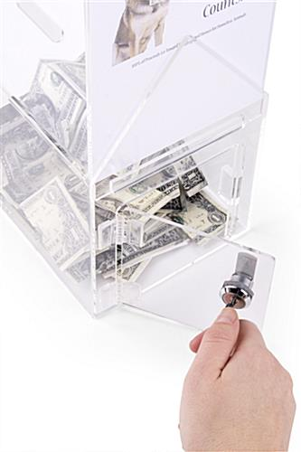 House Shaped Donation Box with Locking Mechanism, Access Door