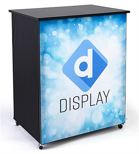 10' trade show booth kit SEG custom graphic front counter with storage