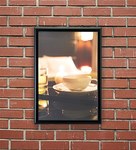 20 x 30 Black All-Weather Poster Frame | Locking Edges