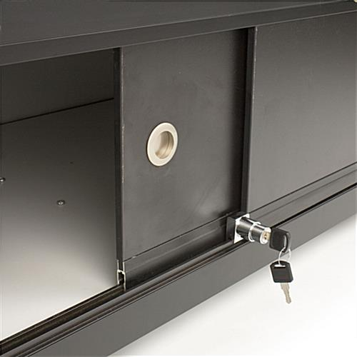 Glass Counter: Features Locking Storage Base