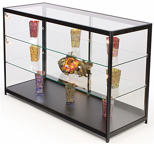 Glass Counter Tempered Glass With Light Up Interior