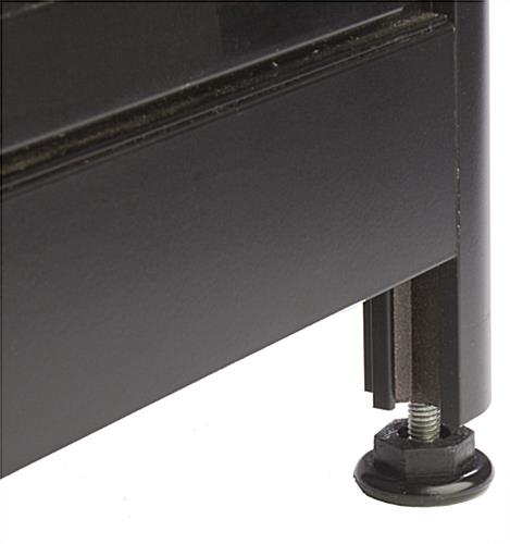 "LED Glass Counter Corner, 22"" Shelf Depth"