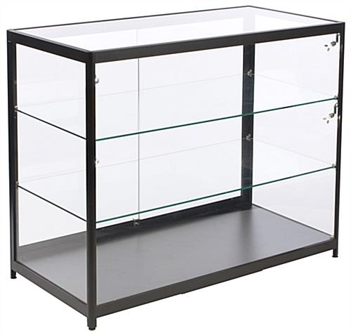 "Aluminum Display Case Counter, 46.5"" Shelf Width"