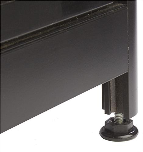 Aluminum Display Case Counter, Black Extrusions