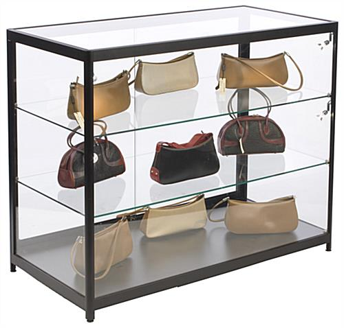 Aluminum Display Case Counter, See Through