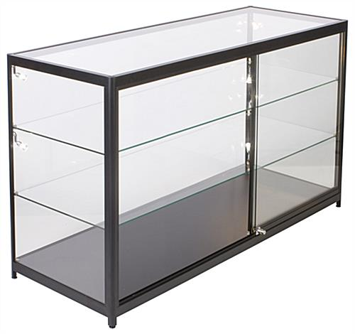 Retail Display Counter with LED Lights with 2 Adjustable Glass Shelves