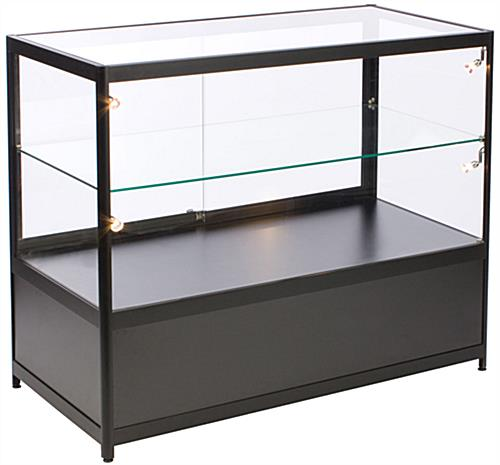 "Illuminated Glass Merchandise Counter, 23.75"" Overall Depth"