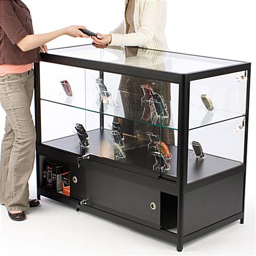 Illuminated Glass Merchandise Counter, Ships Fully Assembled