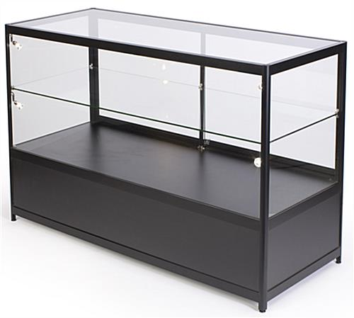 Lighted Glass Display Counter with 1 Adjustable Shelf