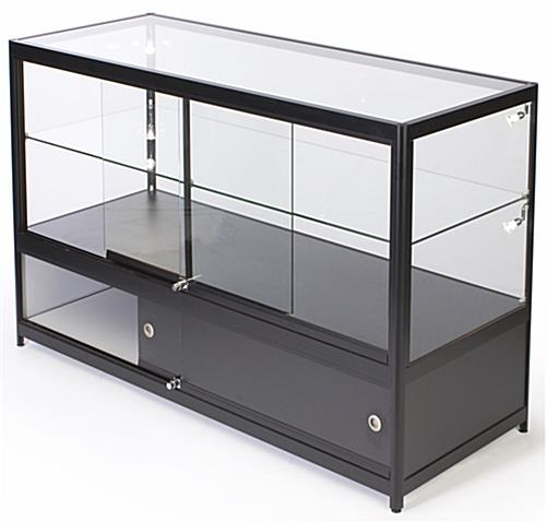 "Lighted Glass Display Counter, 58.5"" Shelf Width"