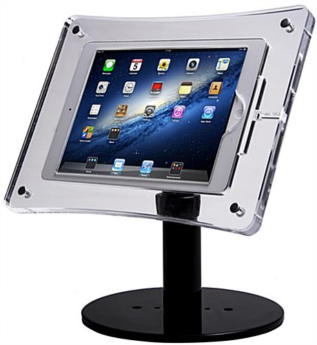 Acrylic Tablet Stand Clear Enclosure Amp Black Base For
