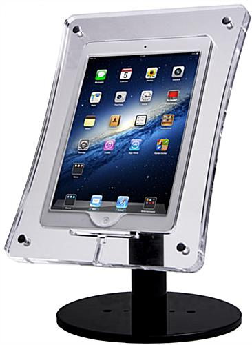 Locking Acrylic Tablet Stand Security Screws In Each