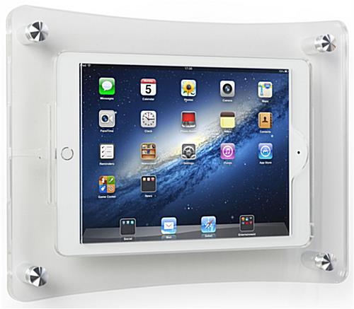 Landscape or Portrait Mounting iPad Wall Dock