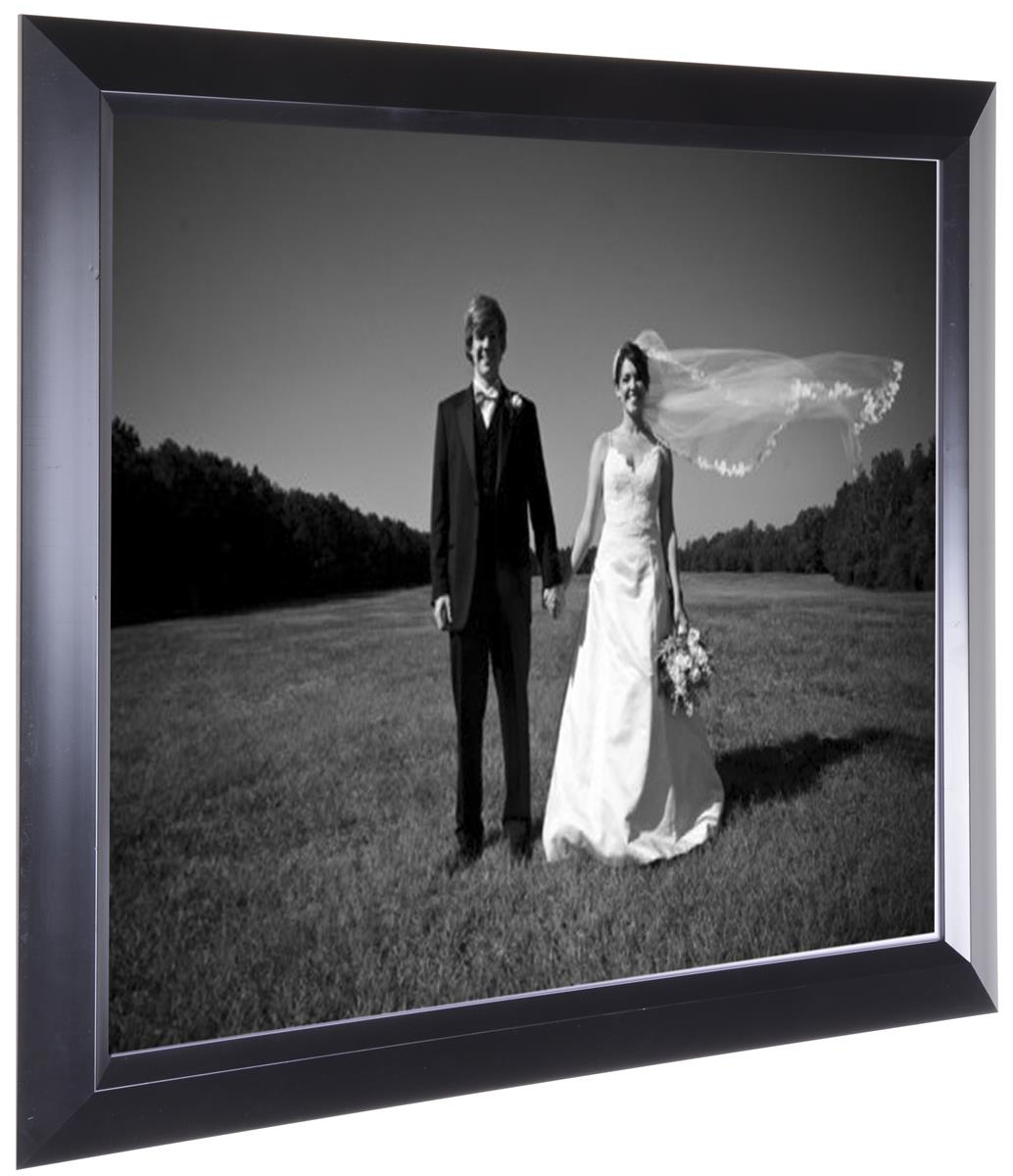 Black Picture Frame W Mat Holds 16 X 20 Photos