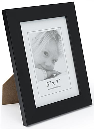 Black 5x7 Display Frame with Dual Sided Easel