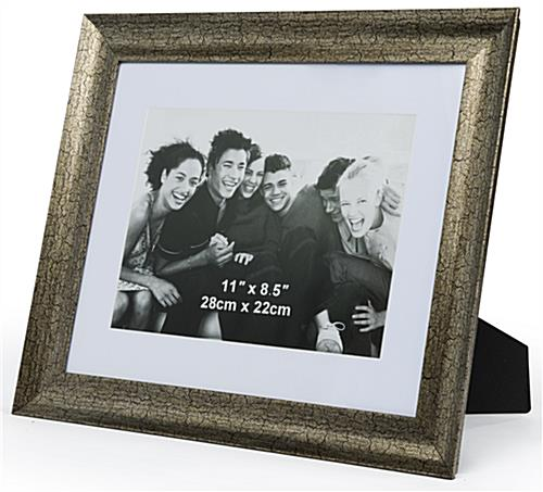Distressed Gold 8 5 X 11 Matted Frame Removable Mat