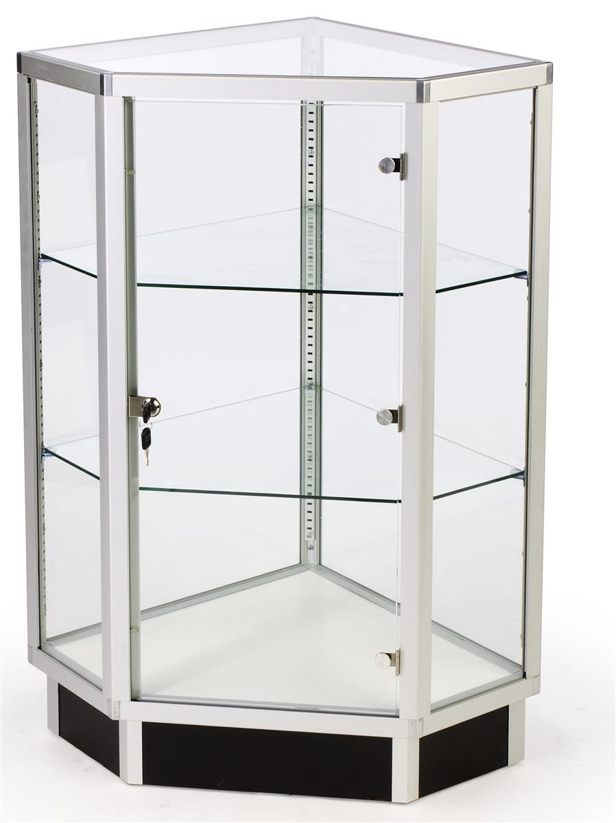 Glass Cabinets 28 Corner Display W Hinged Door Locking Door