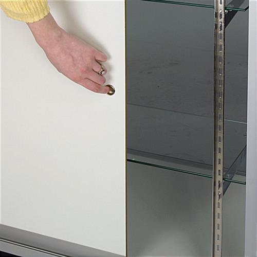 Glass Display Case: 4' Merchandising Cabinet, Ships Unassembled