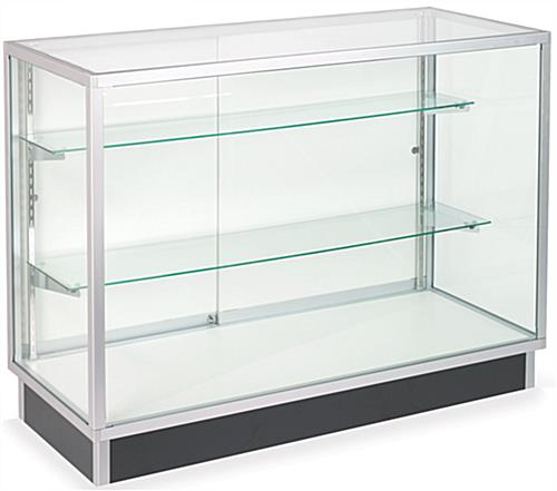 Glass Cabinets: 4' Glass Display Cases, Ships Unassembled