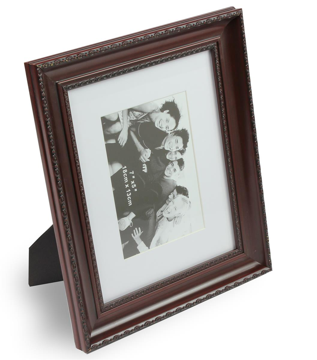 8 x 10 mahogany photo picture frame matted to 5 x 7. Black Bedroom Furniture Sets. Home Design Ideas
