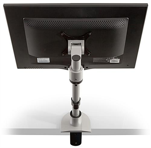 "14"" Tall, Silver Monitor Stand"