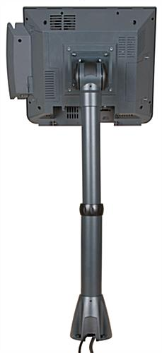 Monitor Pole Mount System with Internal Cable Routing