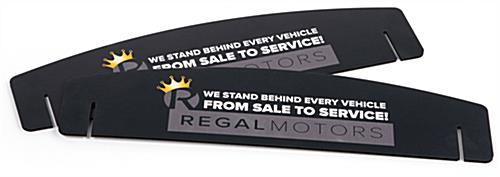 Slotted foam sign headers for brand messaging