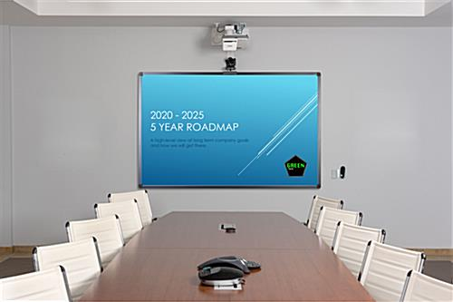 Smart multi-touch whiteboard with wireless connectivity for conference rooms