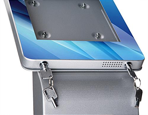 Customized iPad Kiosk, Silver
