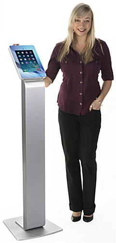 Customized iPad Kiosk with Lockable Holder