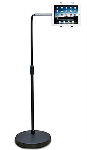 Tablet floor mount tilt orientation adjustment bracket tablet floor mount tyukafo
