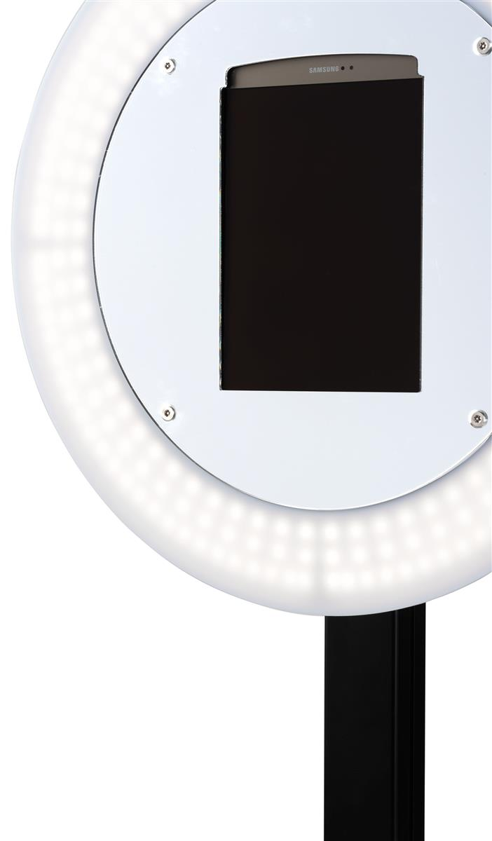 Tablet Photo Booth Station, LED Light Ring, Adjustable Height, Floor  Standing - Black