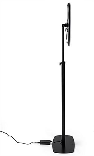 iPad photo booth stand with light ring and 70-inch maximum height