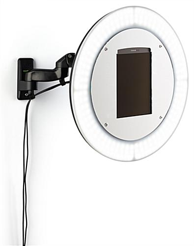 Wall mount photo booth station with secure mounting hardware and ultra-strength screws