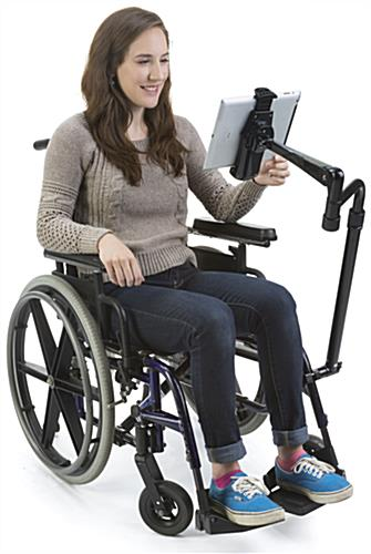 "iPad Wheelchair Mount, 18"" Overall Width"