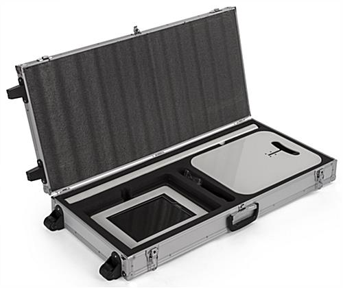 Storage case for convertible iPad stands with die cut EVA foam