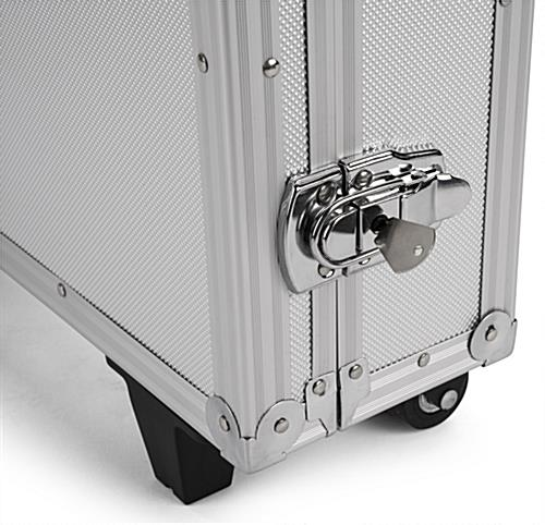 2 Locks with keys on storage case for convertible iPad stands