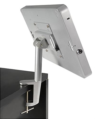 ipad desk clamp secures to 2 max thick surfaces. Black Bedroom Furniture Sets. Home Design Ideas